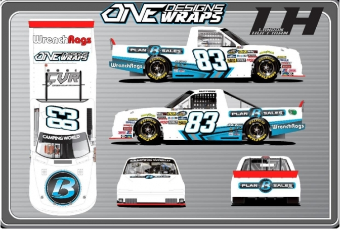 Huffman partners with Plan B Sales ahead of Martinsville Debut